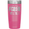 Dark Pink Space Force 20 Ounce Etched Tumbler - Make Space Great Again
