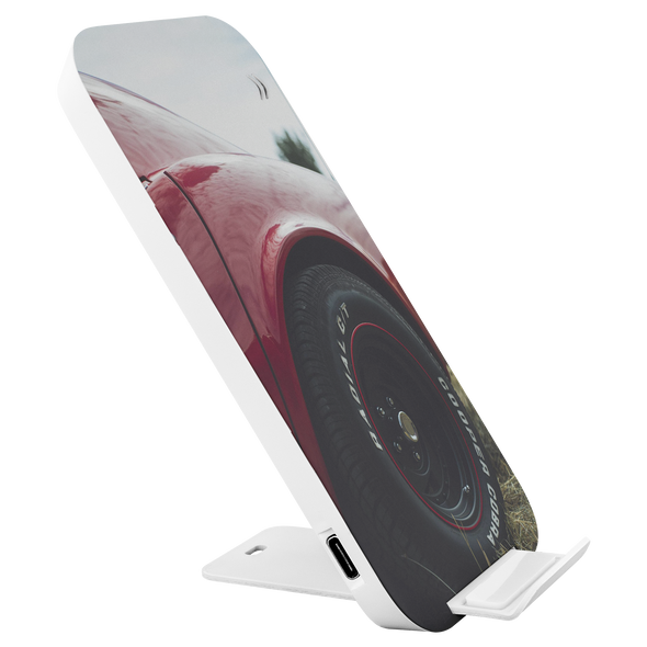 Classic Muscle Car Wheel Love Prontimus Wireless Charging Stand with USB Cord