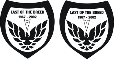Last of the Breed Decal Graphics 1967-2002 Pontiac Firebird Trans AM