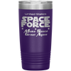 Purple Space Force 20 Ounce Etched Tumbler - Make Space Great Again
