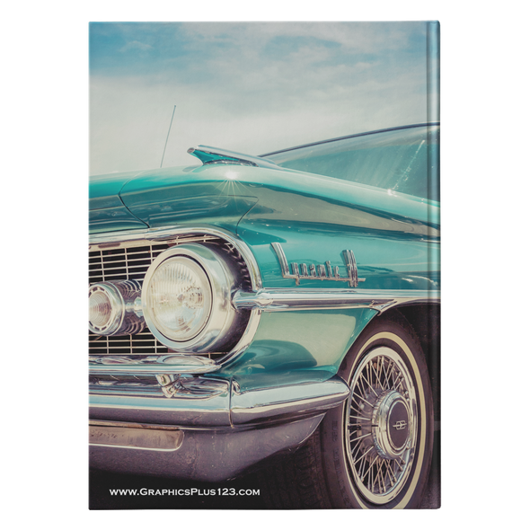 Classic Dynamic Olds Car Hardcover Journal 5.75x8 and 7x10 Sizes 150 Perforated Pages