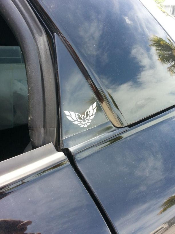 Pontiac Firebird Formula Firehawk WS6 Trans Am Pillar Bird Graphic Decal Set of 4