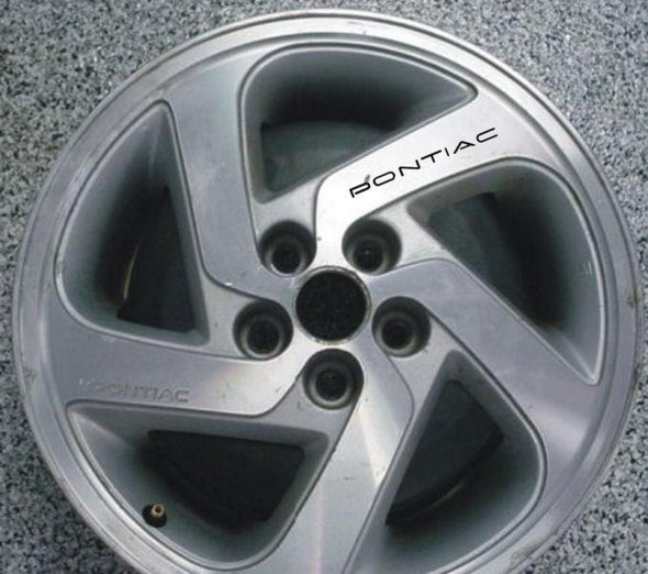 Wheel Rim Decals Fit Pontiac Firebird, Trans Am, GTO, Fiero, Grand Prix, Grand Am, G6 and more!