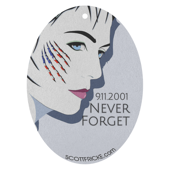 9/11 Never Forget Pop-Art Air Freshener - 3 Pack - Choice Of 13 Scents