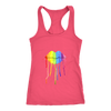 Rainbow Lips Dripping Color Next Level Womens Racerback Tank- Multiple Sizes & Colors
