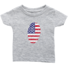 American Flag Thumbprint Infant T-shirt