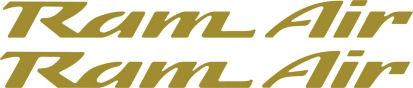 Gold Pontiac Firebird Trans Am Ram Air Replacement Hood Decals - Custom Die Cut Vinyl Decal Graphics #decals