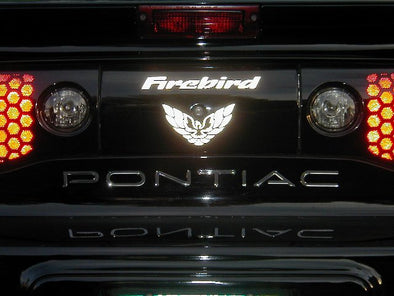 Chrome Rear Tail Light Decal Fits Pontiac Firebird 1998-2002 + Screaming Chicken #graphics
