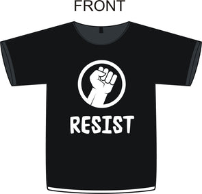 Resist Fist T Shirt Political