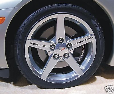 Corvette Z06 LS7 Wheel Rim Graphic Decals