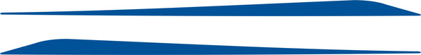Blue Lower Rocker Panel Graphics Decals fits 2010-2015 Chevy Camaro