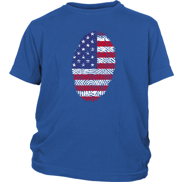 American Flag Thumbprint Youth T-shirt