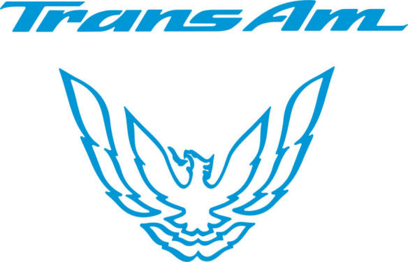 Olympic Light Blue Rear Tail Light Decal Fits Pontiac Trans Am Firebird Formula - 1993 to 1997 Style Bird