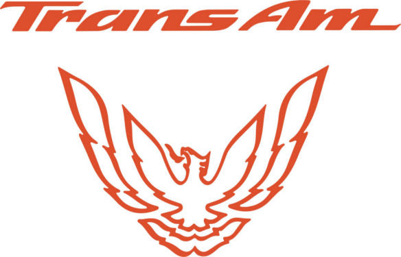 Orange Rear Tail Light Decal Fits Pontiac Trans Am Firebird Formula - 1993 to 1997 Style Bird