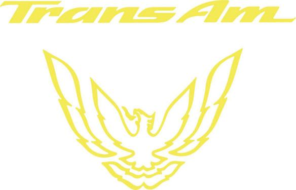 Yellow Rear Tail Light Graphic Decal Fits 1993-97 Pontiac Firebird Trans Am #transam
