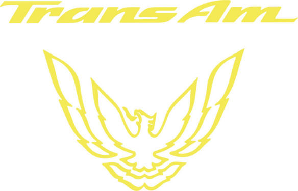 Yellow Rear Tail Light Decal Fits Pontiac Trans Am Firebird Formula - 1993 to 1997 Style Bird
