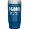 Blue Space Force 20 Ounce Etched Tumbler - Make Space Great Again