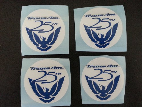 25th Anniversary Wheel Center Decal Set Fits Pontiac Firebird Trans Am