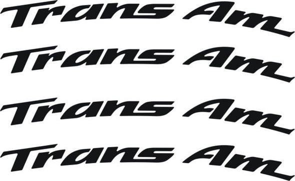 Pontiac Firebird Trans Am Curved Wheel Graphic Decals, Set of 8 ALL Years
