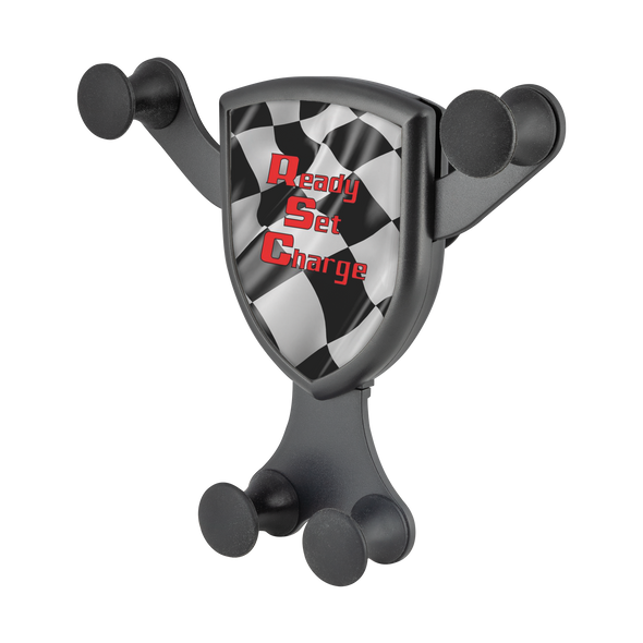 wireless cell phone car charger gravitis custom graphics checkered flag racing