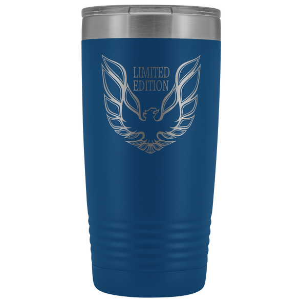 Trans Am Limited Edition Screaming Chicken Etched 20 Ounce Vacuum Tumbler - Blue - Multiple Color Options