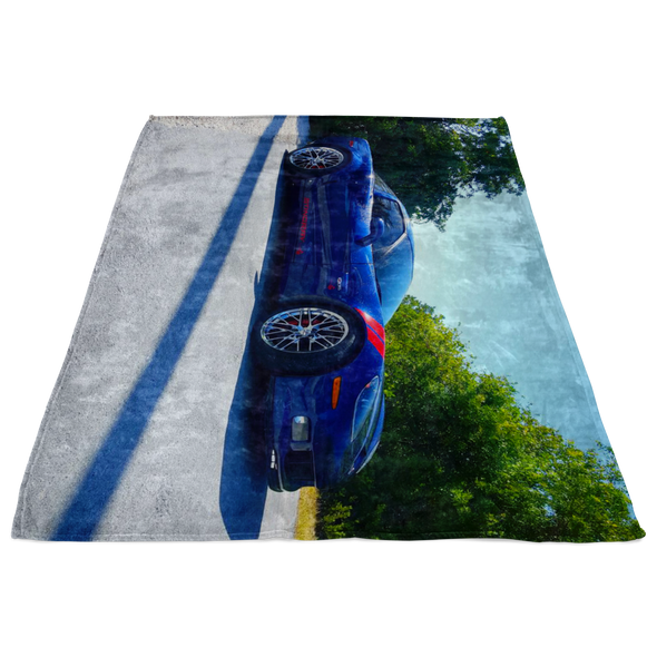 Chevy Corvette Z06 Stingray Photo Fleece Blanket - Small, Medium or Large Sizes