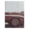 Classic Muscle Car Brown Hardcover Journal 5.75x8 and 7x10 Sizes 150 Perforated Pages