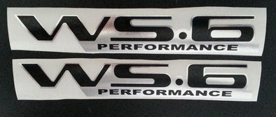WS6 Custom Chrome Decals for Pontiac Firebird Trans Am Formula