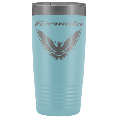 Light Blue Pontiac Formula 25th Anniversary Screaming Chicken Rising Phoenix Etched 20 Ounce Vacuum Tumbler - Multiple Color Options