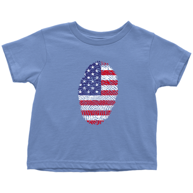 American Flag Thumbprint Toddler T-shirt