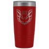 Trans Am Limited Edition Screaming Chicken Etched 20 Ounce Vacuum Tumbler - Red - Multiple Color Options