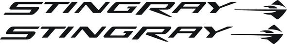 Stingray Side Door Graphic Decals Fits Chevy Corvette 2006-2013 Z06
