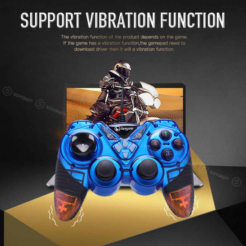 Wired Vibration Gamepad PC USB Controller Joystick Game Handle Double Shock  Game pad