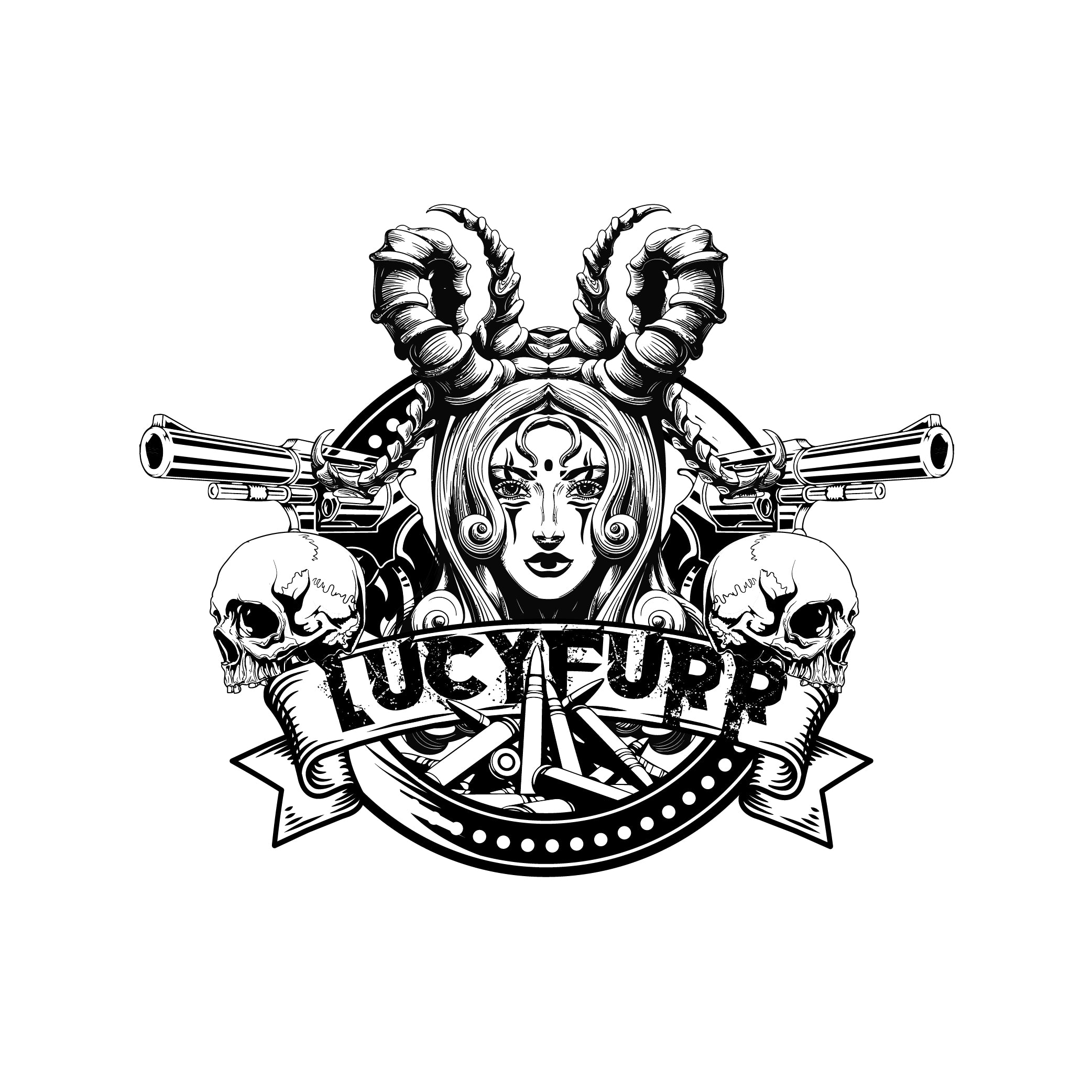 LucyFurr Logo Sticker