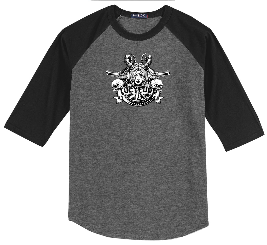 LucyFurr Raglan Jersey in gray and black