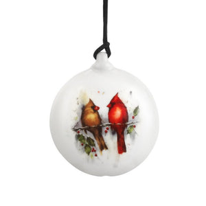 Dean Crouser Two Cardinals and Holly Ornament