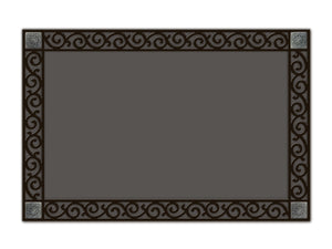 Indoor/Outdoor Welcome Mat Tray with Scroll Corners