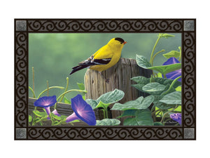 Goldfinch Perch MatMate DoorMat