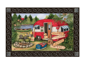 Camping Weekend MatMate DoorMat