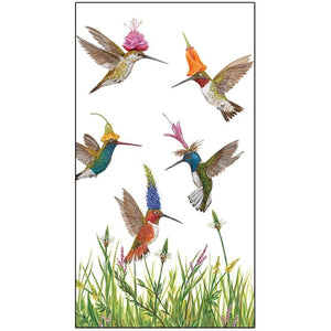 Meadow Buzz Guest Towels / Buffet Napkins decorated with Hummingbirds