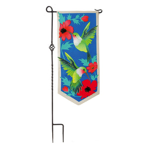 Hummingbirds Everlasting Impressions Garden Flag