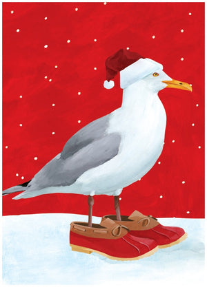 Seagull's Holiday individual Greeting Card