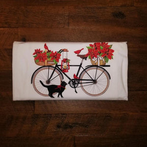 Bike & Cardinals Flour Sack Towel