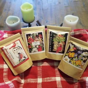 Winter Birds & Botanicals Wrapped Tea Selection