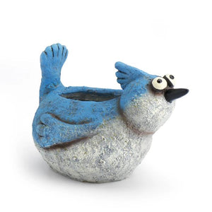 Blue Jay Bird Planter