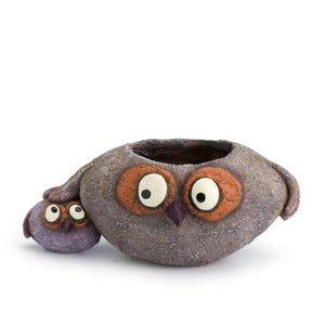 A Papaw & Chip Owl Bird Planter from Perch Birding Gifts & Supplies