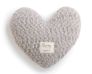 Taupe Giving Heart Pillow