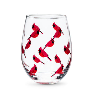 Cardinals Stemless Wine Glass