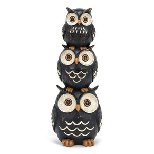 Triple Stacked Owls