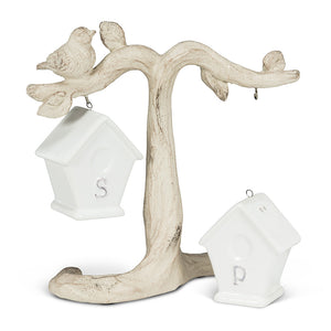 Birdhouse Salt & Pepper on Branch